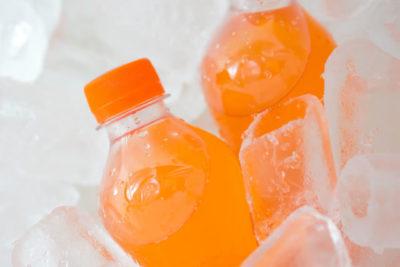 氷漬けのジュース