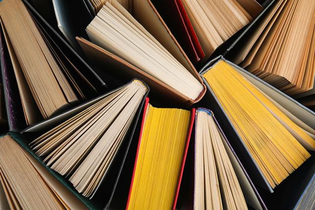 立てられた数冊の本