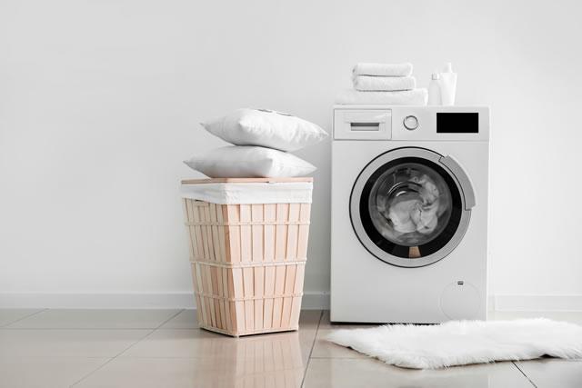 クッションと洗濯機