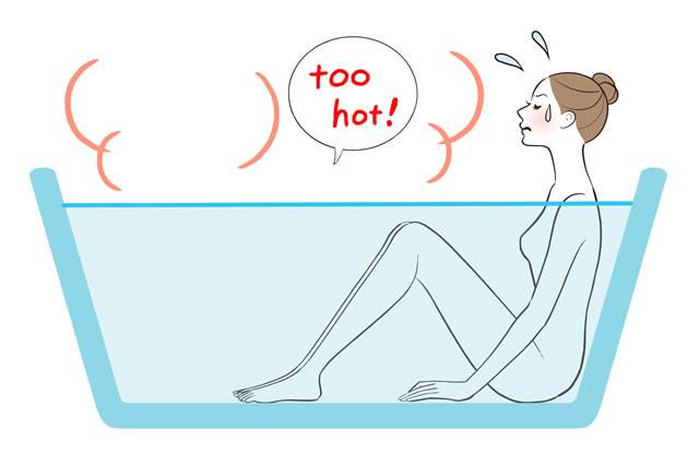 浴槽でくつろぐ女性イラスト