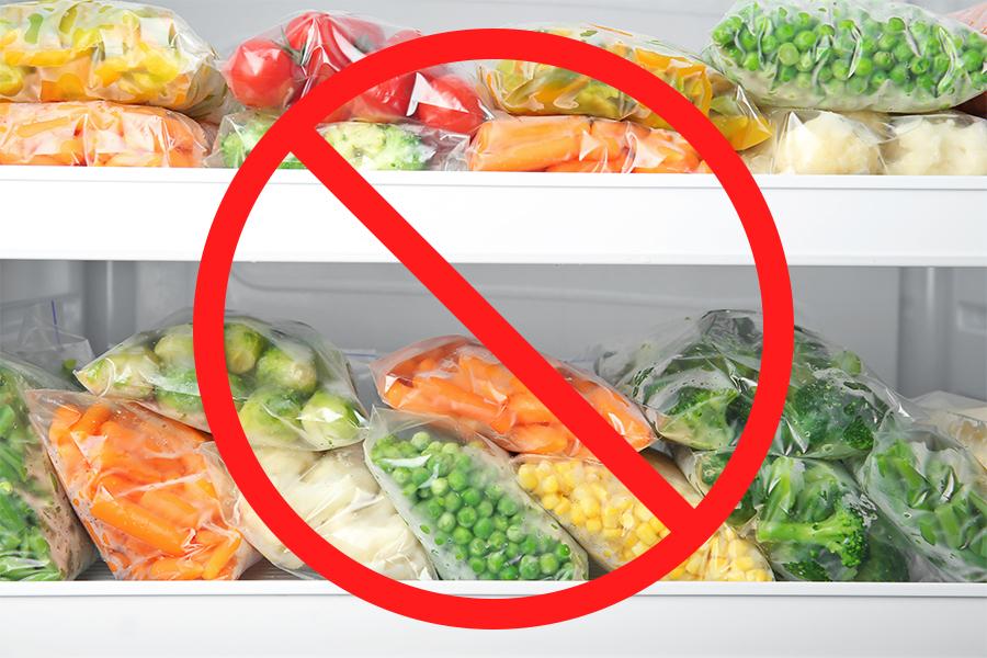 冷凍保存してはいけない食べ物とは