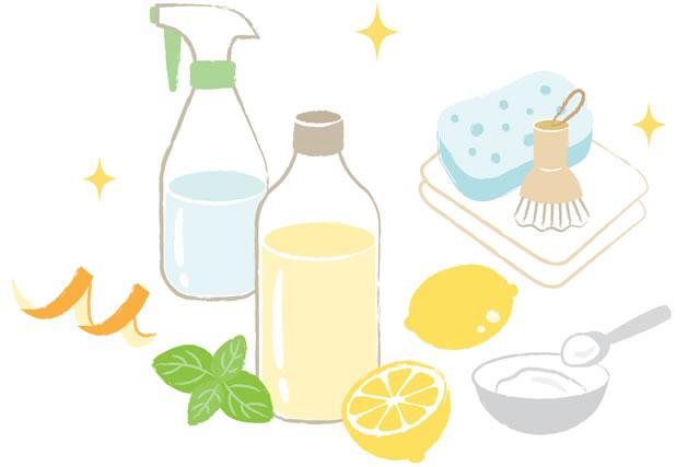 レモン水とスポンジ