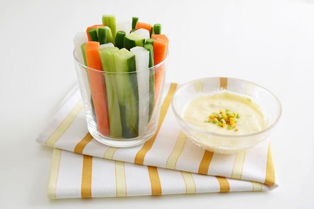 新鮮な野菜スティック