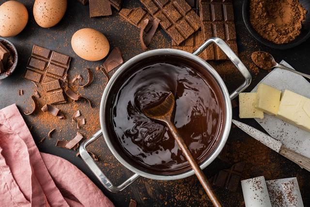 チョコレートの湯煎