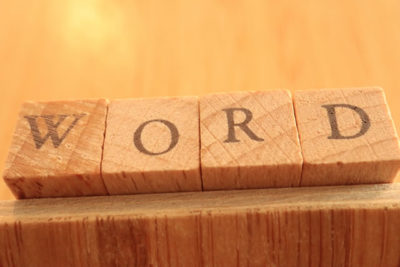 Wooden Block Text of Word