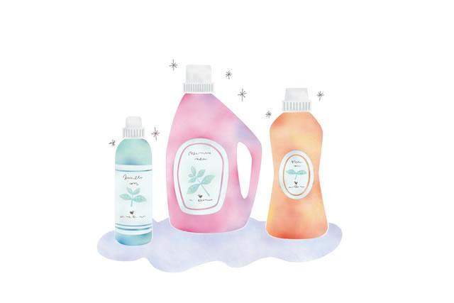 柔軟剤と洗剤