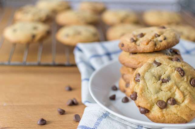 Fresh homemade chocolate chip cookies