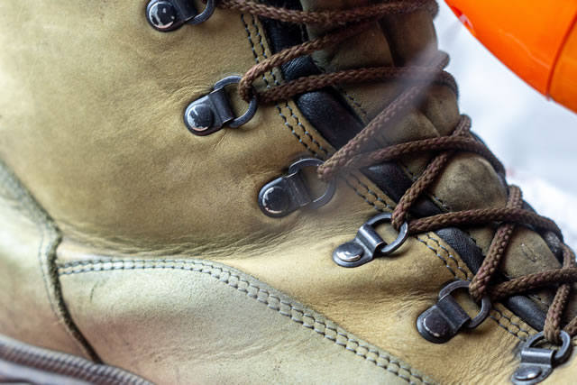 Shoe treatment for moisture protection and getting wet