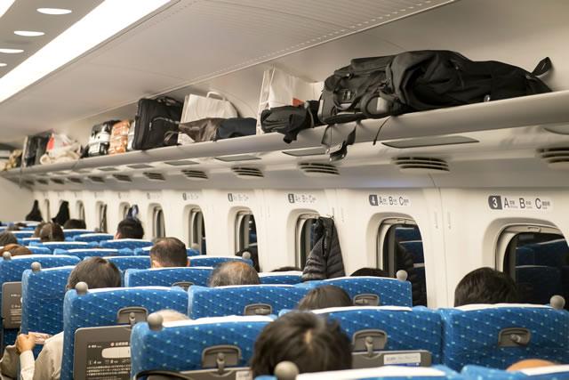 新幹線の車内