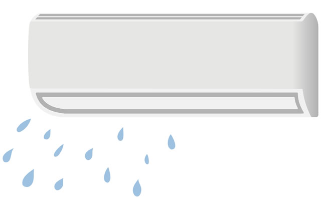 エアコンの水漏れイラスト