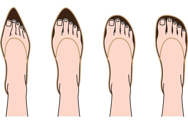 靴の中の足