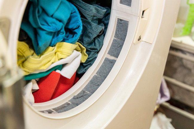 乾燥機に入った衣類
