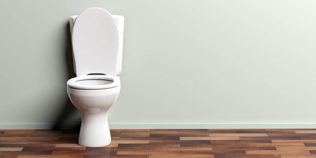 便座の蓋があいたままのトイレ