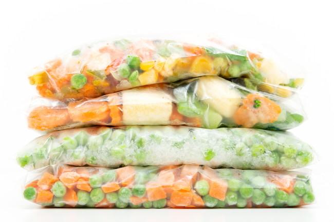 保存袋に入った冷凍カット野菜