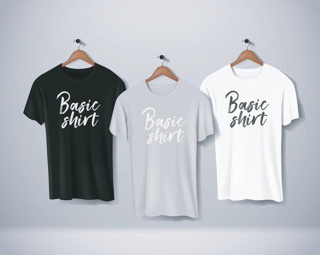黒・灰・白のTシャツ