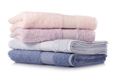4色の新しいタオル