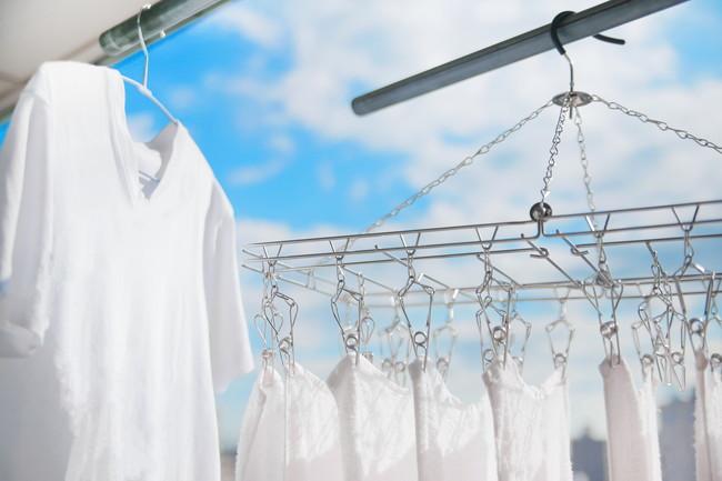 真っ白な洗濯物