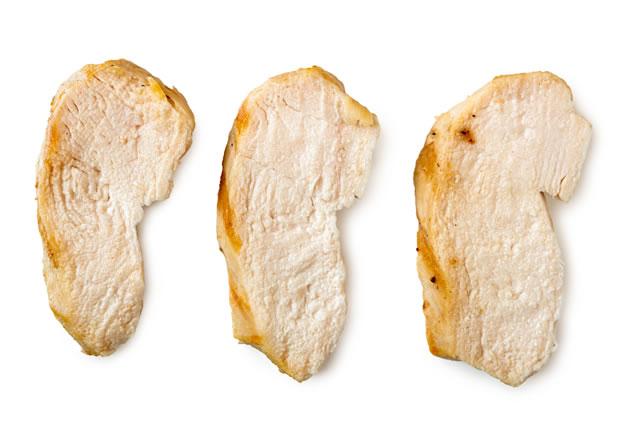 鶏肉の断面
