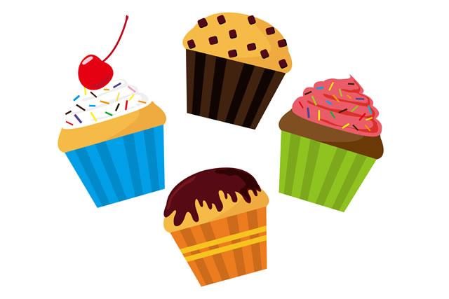 マフィンとカップケーキ