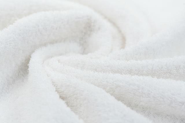 新しい白いタオル