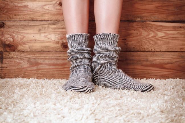 カーペットと靴下