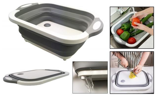 洗い桶 折りたたみ まな板 Kiranic キッチン バケツ