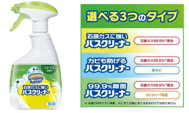 スクラビングバブル 浴室・浴槽洗剤 石鹸カスに強いバスクリーナー シトラスの香り 本体1本+つめかえ用3個セット 400ml+350ml×3個