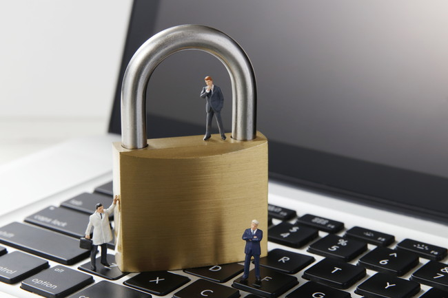 オンラインの個人情報保護のイメージ写真