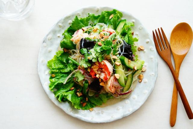 ヤムウンセン(パクチーを使ったタイ料理のサラダ)