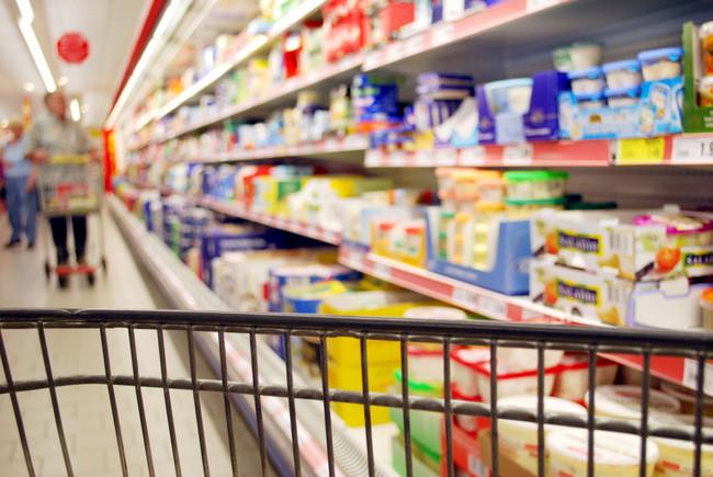 スーパーの屋内