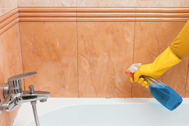 洗剤を使った風呂掃除