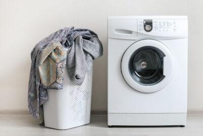 洗濯機と毛布