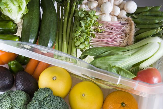 野菜室の中の野菜
