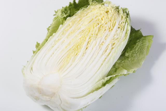 半分の白菜