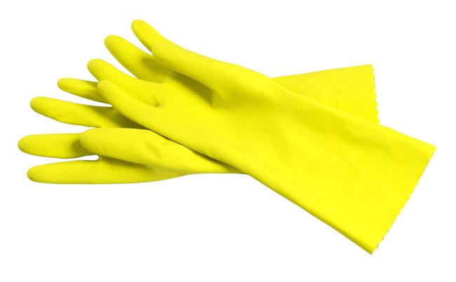 黄色のゴム手袋