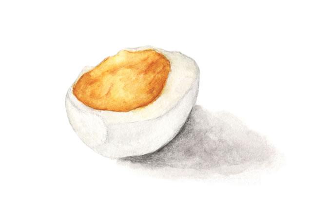 ゆで卵が腐るイラスト