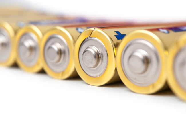 並んだ乾電池