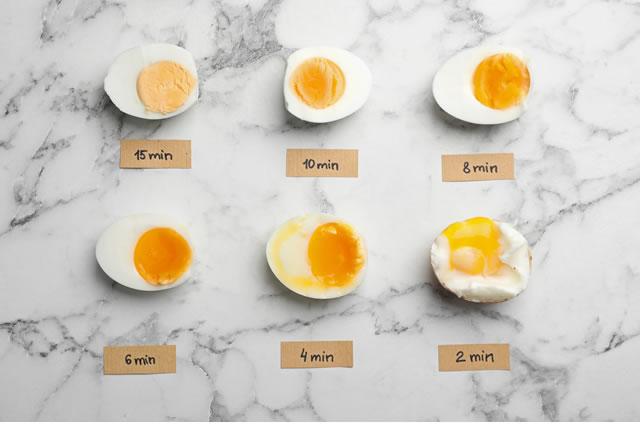ゆで卵が腐る様子