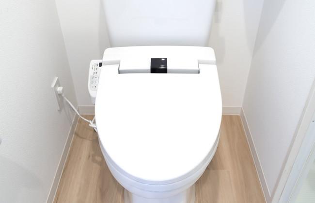 フタを閉じたトイレ