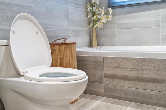 モダンなバスルームにある洋式トイレ