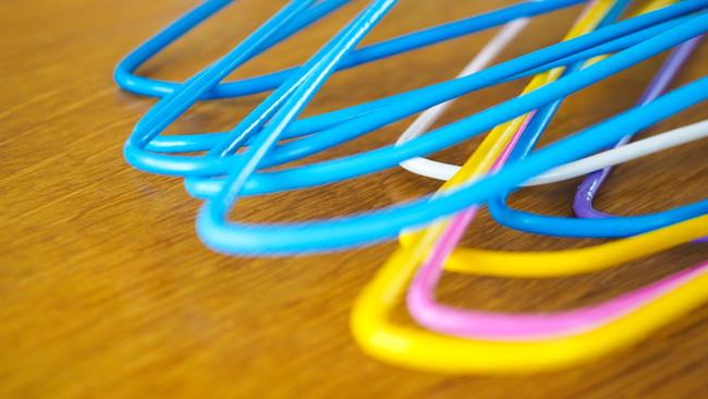 複数の針金ハンガー