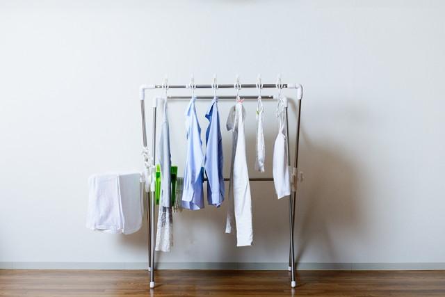 服とタオルの部屋干し