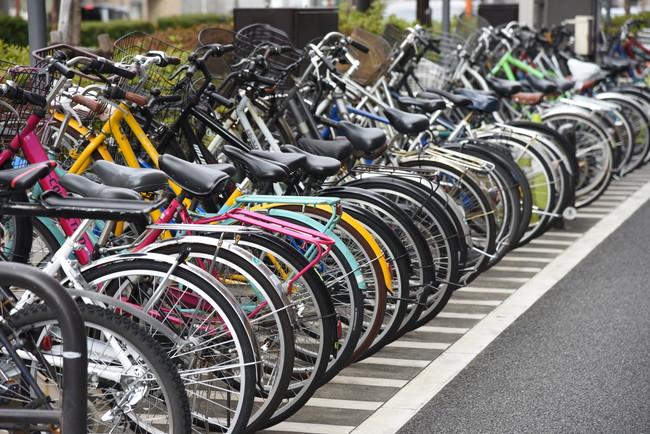 中h輪状に並んでいる自転車