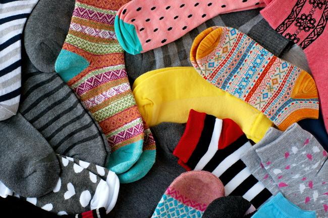 沢山の靴下