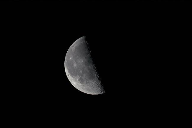 美しい下弦の月