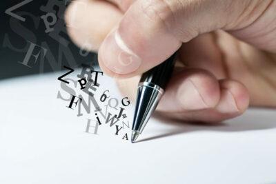 手紙のアルファベッド書き