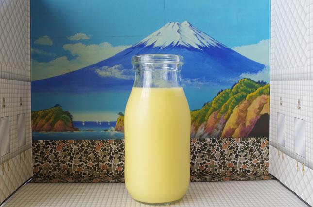 銭湯の牛乳イメージ