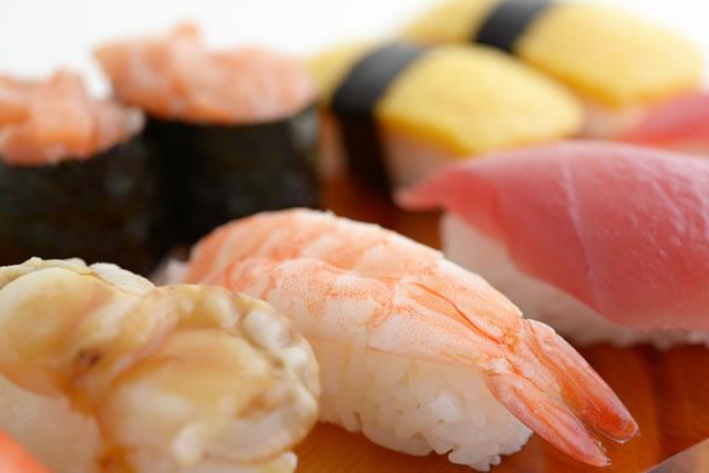 お寿司のアップ