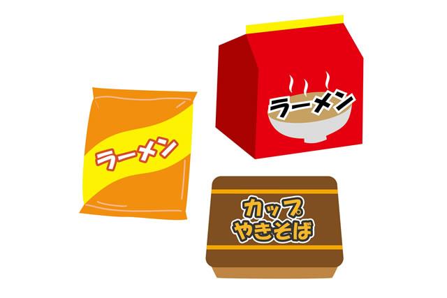 袋麺イラスト