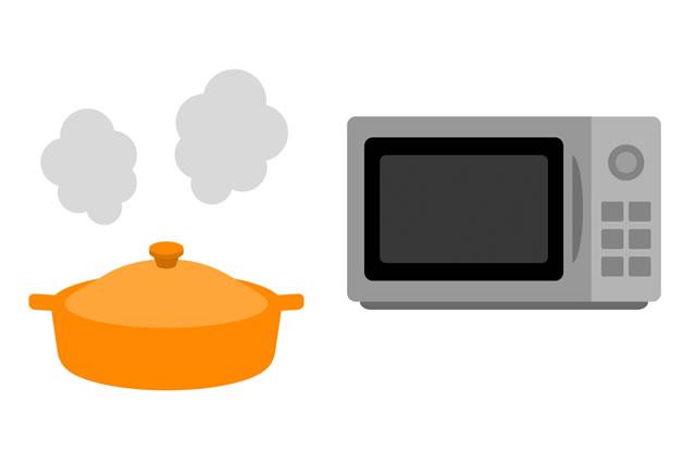 電子と鍋のイラスト